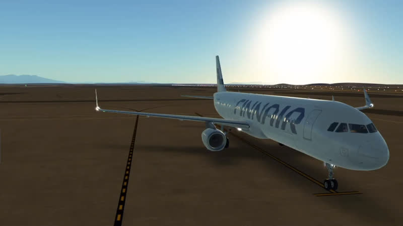 Взлёт FinnAir Airbus A321 Infinite flight