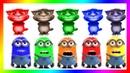 Talking Tom Colores 🌈 los colores en español 🌈 videos para niños  Lets Play Kids