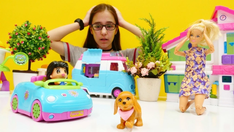 Kız oyunu. Barbie köpeğini kaybetti! Çocuk videosu