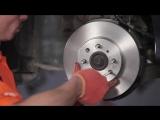 Замена передних тормозных колодок и дисков в Хонда Цивик 7