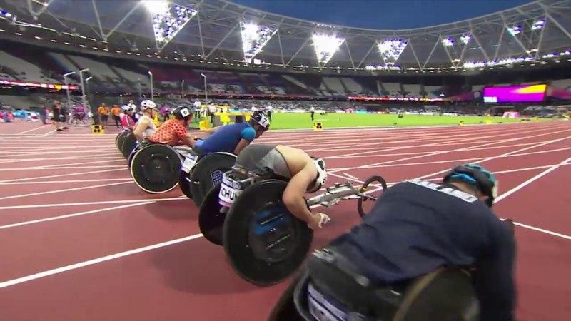 Men's 100m T54 Final London 2017 World Para Athletics Championships