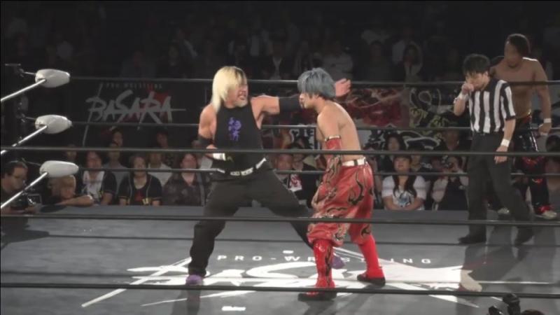 Isami Kodaka, Naomichi Marufuji vs. Ikuto Hidaka, Minoru Fujita (BASARA - Vajra 72 ~ Hitori Tenka)