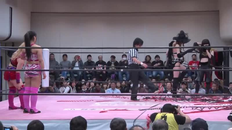 Miu Watanabe Yuki Aino vs. NEO Biishiki-gun (Misao Sakisama) - TJPW Spring Tour 19 - Ready Set, GO!