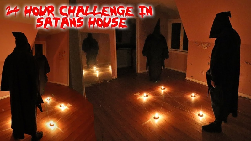 24 HOUR OVERNIGHT CHALLENGE IN SATANS HOUSE! PARANORMAL ACTIVITY   MOE SARGI