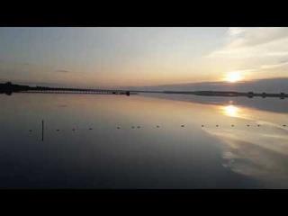 Озеро Карачи. Красивый закат солнца.Новосибирская область.