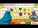 Sesame Street Cookie Monster Eats Grover's Fruit And Vegetable Stand