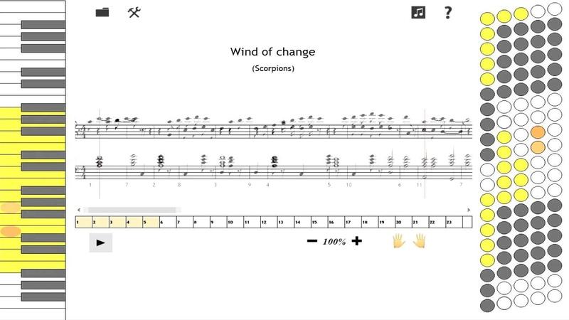как играть на аккордеоне Wind of change