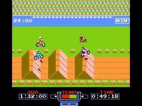 Excite Bike - motorcycle game nostalgia (NES, Dandy)