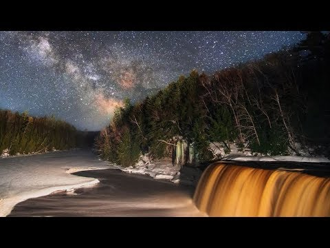 International Dark Sky Week: Time-lapse over Tahquamenon Falls