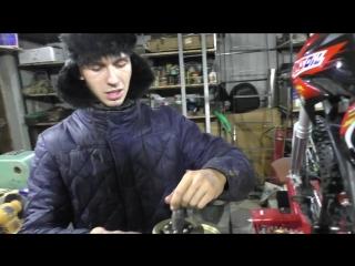 [Андрей Скутерец] Тюнинг питбайка Kayo #3 вилка зажигание карбюратор голова