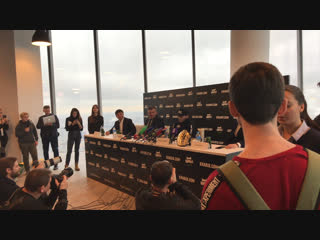 Пресс-конференция Хабиба Нурмагомедова в Москве