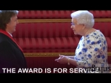 Sir Paul McCartney given the award for services to music from the Queen Buckingham Palace, London