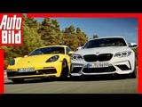 BMW M2 Competition vs Porsche Cayman GTS (2018) Test  Vergleich  Review