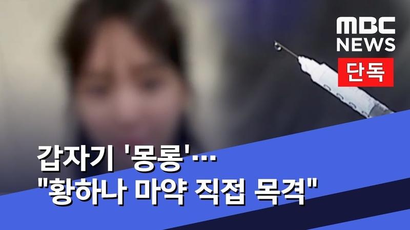 [단독] 갑자기 몽롱…황하나 마약 직접 목격 (2019.04.02뉴스데스크MBC)