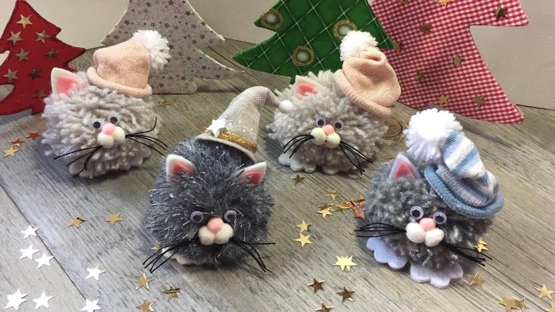 Easy DIY for Christmas TUTORIAL FACILISSIMO con ponpom per Natale