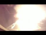 Пуски крылатых ракет SCALP Naval с французского фрегата по целям на территории Сирии.
