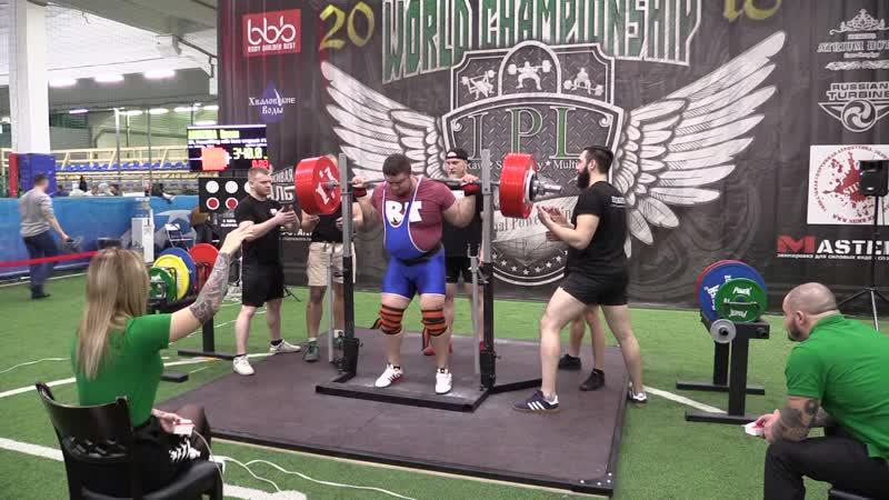 Абиджба Роман присед в бинтах 340 кг