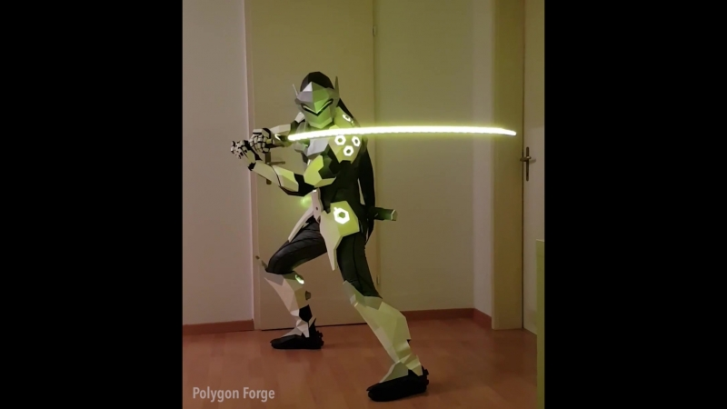 Genji from Overwatch cosplay I made with paper and foam (x-post from r_gaming)