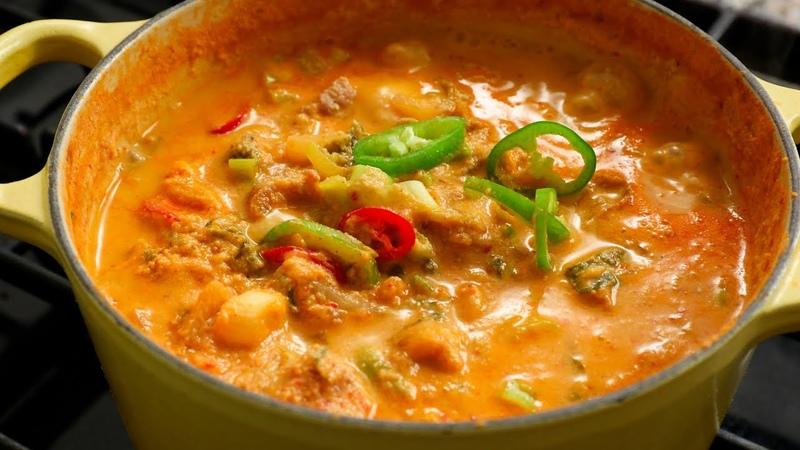Ground Soybean Stew (Kongbiji-jjigae 콩비지찌개)
