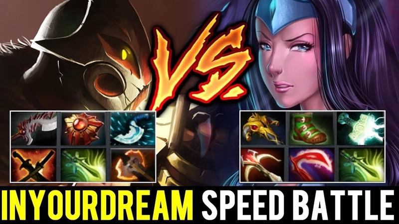 Inyourdream Juggernaut vs Mirana - Speed Build Carry Battle