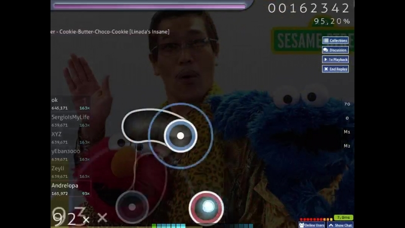Elmo and Cookie Monster - Cookie-Butter-Choco-Cookie [Linada's Insane] (96.30%) 54pp 3.84 star