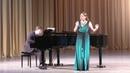 Ольга Маслова Финал камерного отделения XI Международного конкурса молодых оперных певцов