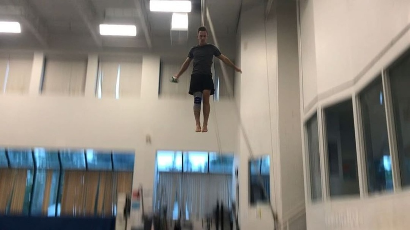 "Jason Burnett on Instagram: ""As a trampoline athlete, jumping 25 feet high is a pretty regular occurrence. After 2 ACL tears I wanted to find solut..."