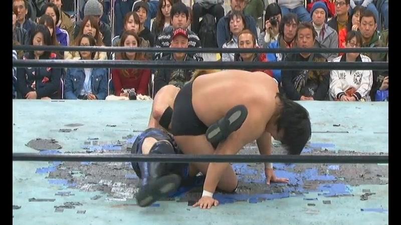 Daichi Hashimoto, Yoshihisa Uto vs. Ryota Hama, Takuya Nomura (BJW - Big Japan Full Metal 2018)