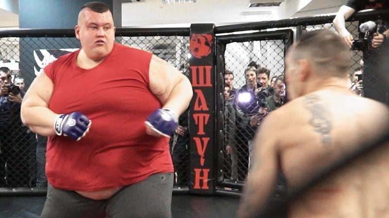 Дрищ избил огромного толстяка - 220 KG VS 50 KG / Бой Гена Собака против Гриша Полное ТВ