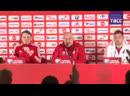 Станислав Черчесов проводит пресс-конференцию перед матчем против Бельгии
