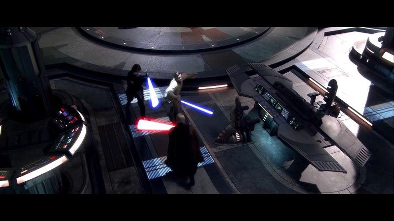 Оби Ван Кеноби и Энакин Скайуокер против графа Дуку