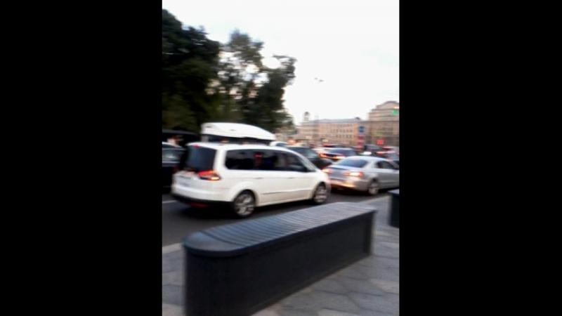 Фиерия на дорогах Москвы когда наши выйграли у Испанцев