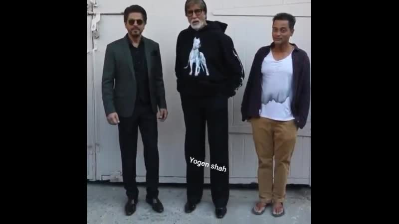 SRK and Amitabh Bachchan with director Sujoy Ghosh for the promotions of @BadlaTheFilm.