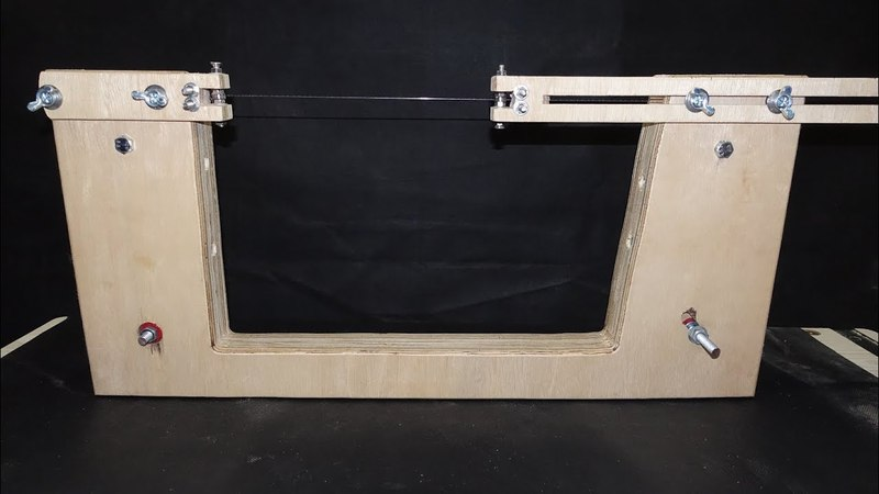 Homemade Bandsaw. Portable Toptable Drill Powered Bandsaw