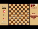 Marcel Deslauriers CAN Roland Forclaz SUI Draughts World Championship 1952