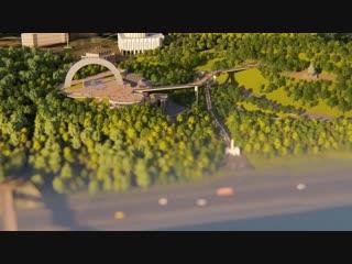 Таким буде новий міст у центрі столиці. Вже хочу прогулятися по ньому. А ти?