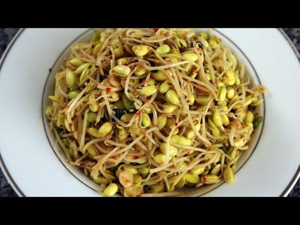 Soybean sprout side dish (Kongnamul muchim 콩나물무침)