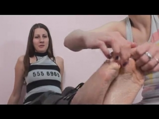 Bella039s wrinkly feet toe tied and tickled.mp4