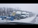 I-70 E bound mm 28 Oak Grove Missouri 15 vehicle pileup Drivers Be Safe 1 Driver Dead