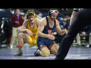 165lbs joey gunther (illinois) dec jacen petersen (arizona state)