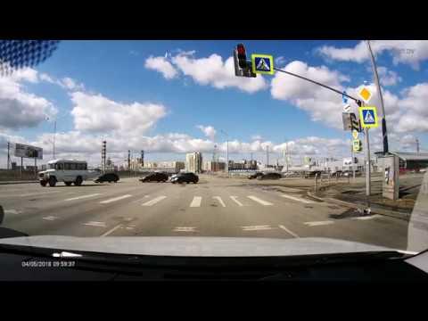 Чудом избежал аварии., Челябинск 4.05.18 университетская набережная, с 120