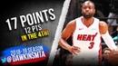 Dwyane Wade Full Highlights 2019.03.16 Heat vs Hornets - 17 Pts, 8 Rebs! | FreeDawkins
