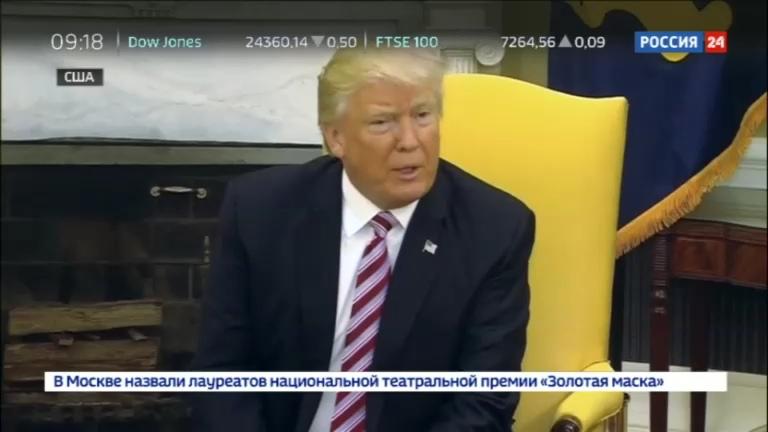Новости на Россия 24 • Джеймс Коми: Трамп - лжец, относящийся к женщинам как к мясу