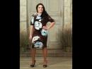 Платье Красотка бордо