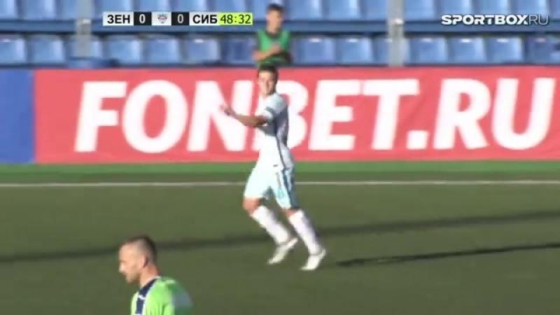 Единственный гол Данила Кругового на взрослом уровне за «Зенит-2» в ворота «Сибири»