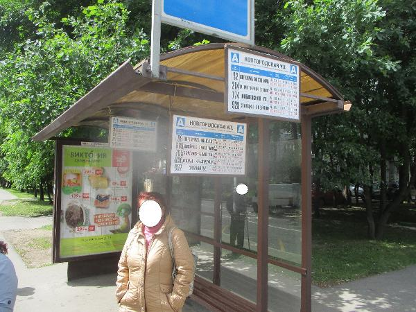 Указатели маршрутов восстановили на остановке «Новгородская улица»