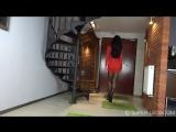 Super Legs - Black or red Mini dress - Black pantyhose , high heels 緊身衣