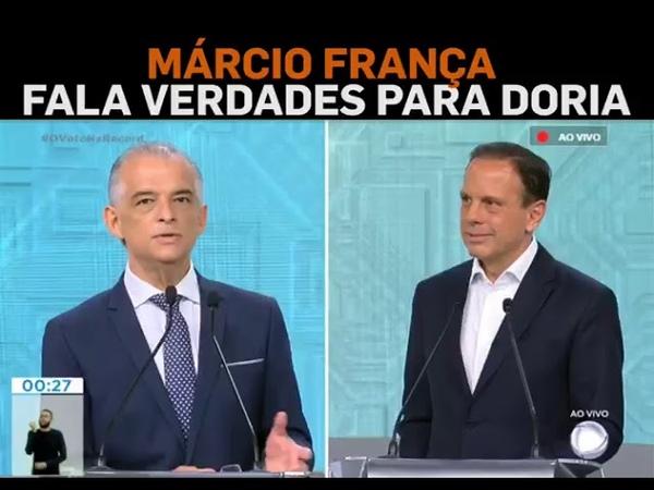 Márcio França Coloca Doria No Seu Devido Lugar | Debate Na Record - SP