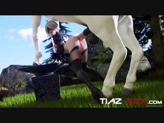 2b [60] horse doggy style anal fuck from behind 3d hentai rule 34 r34