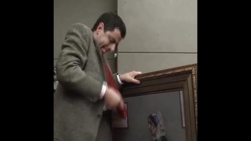 Мистер Бин реставрирует мать Уистлера